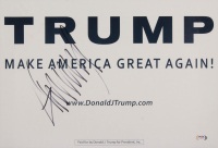 Donald Trump Signed 13x19 Campaign Poster (PSA Hologram) at PristineAuction.com