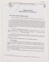 Oscar De La Hoya & Enrique Ornealas Signed Addendum to Promotional Contract (JSA COA) at PristineAuction.com