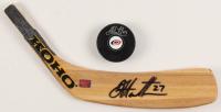 Lot of (2) Dougie Hamilton Signed Hockey Items with (1) Hurricanes Logo Hockey Puck & (1) Hockey Blade (Your Sports Memorabilia Store COA) at PristineAuction.com