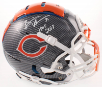 "Brian Urlacher Signed Bears Full-Size Authentic On-Field Hydro-Dipped F7 Helmet Inscribed ""HOF 2018"" (Beckett COA) at PristineAuction.com"