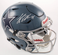 Leighton Vander Esch Signed Cowboys Full-Size Authentic On-Field Hydro Dipped Speedflex Helmet (Beckett COA) at PristineAuction.com