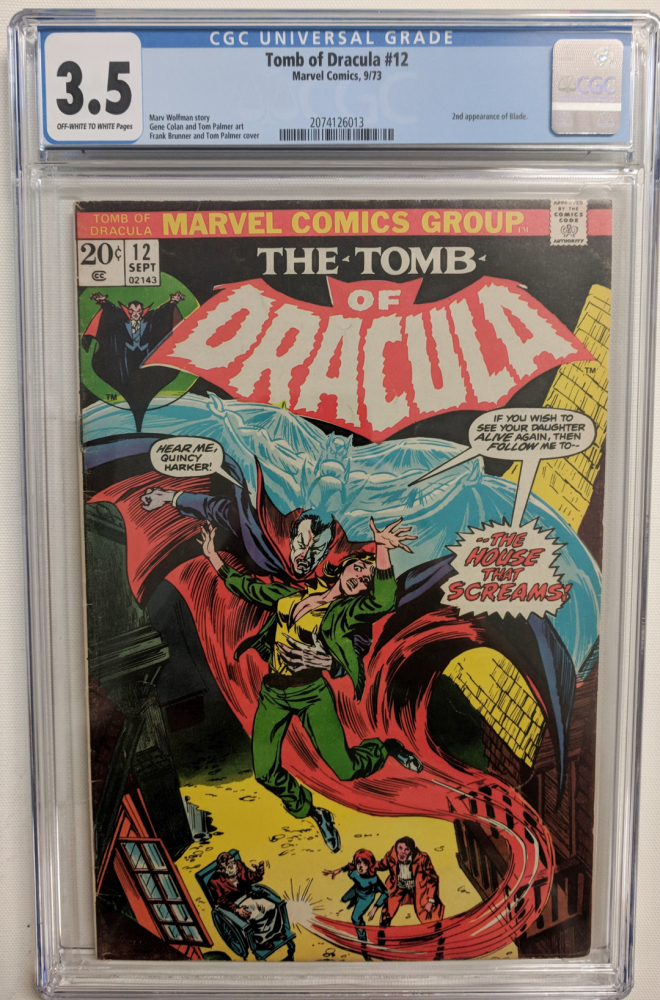 """1973 """"Tomb of Draclua"""" Issue #12 Marvel Comic Book (CGC 3.5) at PristineAuction.com"""