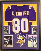 Cris Carter Signed 35x43 Custom Framed Jersey (JSA COA) at PristineAuction.com