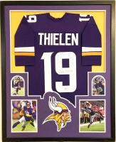 Adam Thielen Signed 35x43 Custom Framed Jersey (Beckett COA) at PristineAuction.com