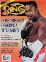 Larry Holmes Signed 1992 The Ring Magazine (PSA COA) at PristineAuction.com