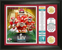 "Chiefs ""SuperBowl 54 Champions"" 13x16 Custom Framed LE Highland Mint Bronze Coin Display at PristineAuction.com"