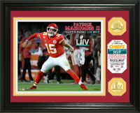 "Patrick Mahomes II Chiefs ""SuperBowl 54 MVP"" 13x16 Custom Framed LE Highland Mint Bronze Coin Display at PristineAuction.com"