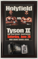 Mike Tyson Signed 19.5x30.5 Custom Framed Title Boxing Glove Display (JSA COA) at PristineAuction.com