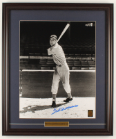 Ted Williams Signed Red Sox 21.5x25.5 Custom Framed Photo Display (Williams COA) at PristineAuction.com