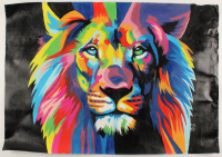 """Rodney Weng Signed """"Peaceful Warrior"""" 25x36 Original Oil Painting on Linen (PA LOA) at PristineAuction.com"""