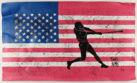 "Rodney Weng - ""America's Pastime"" 22x37 Original Oil Panting on Linen (PA LOA) at PristineAuction.com"