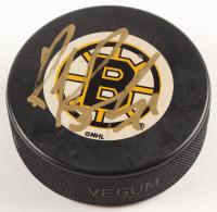 Ray Bourque Signed Bruins Logo Hockey Puck (JSA COA) at PristineAuction.com