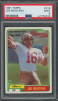 Joe Montana 1981 Topps #216 RC (PSA 9) at PristineAuction.com