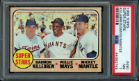 Mickey Mantle / Willie Mays / Harmon Killebrew 1968 Topps #490 Super Stars (PSA 7) at PristineAuction.com