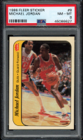 Michael Jordan 1986-87 Fleer Stickers #8 (PSA 8) at PristineAuction.com