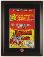 """Batman & Robin Cinethon"" 17x22.5 Custom Framed Print Display with Vintage 1966 Batman & Robin Pin at PristineAuction.com"