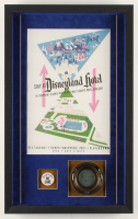 Disneyland 16.5x26.5x2 Custom Framed Shadowbox Display with Vintage Ashtray & Employee Pin at PristineAuction.com