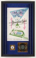 Disneyland 16.5x26.5x2 Custom Framed Shadowbox Display with Vintage Ashtray & Employee Pin at PristineAuction.com