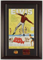 Elvis Presley 17.5x24.5 Custom Framed Print Display with Elvis Pin & Patch at PristineAuction.com