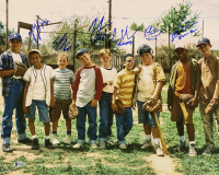 """""""The Sandlot"""" 16x20 Photo Cast-Signed by (6) with Tom Guiry, Marty York, Shane Obedzinski, Victor DiMattia, Chauncey Leopard & Brandon Adams with Character Inscriptions (Beckett COA) at PristineAuction.com"""