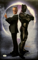 """Greg Horn Signed """"Black Panther & Stan The Man"""" 11x17 Lithograph (JSA COA) at PristineAuction.com"""