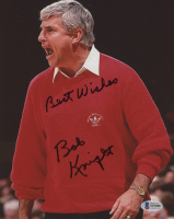 "Bob Knight Signed Indiana Hoosiers 8x10 Photo Inscribed ""Best Wishes"" (Beckett COA) at PristineAuction.com"