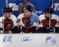 Eric Lindros, Mikael Renberg & John LeClair Signed Flyers 16x20 Photo (JSA COA) at PristineAuction.com