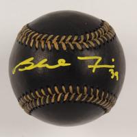Blake Treinen Signed OML Black Leather Baseball (JSA COA) at PristineAuction.com
