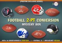 Schwartz Sports 2-PT CONVERSION Full Size Football/Mini Helmet Signed Mystery Box - Series 5 (Limited to 100)( 1- Football & 1 – Mini Helmet Per Box) at PristineAuction.com