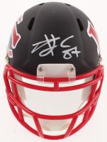 Travis Kelce Signed Chiefs AMP Alternate Speed Mini Helmet (Beckett COA) at PristineAuction.com