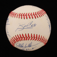 Braves ONL Baseball Team-Signed by (13) with Bobby Cox, Javy Lopez, Rafael Belliard, Mike Bielecki, Jerry Willard (JSA ALOA) at PristineAuction.com