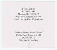 "Bobby Allison Signed ""The Leader of The Alabama Gang"" 3x4 Print (JSA COA) at PristineAuction.com"