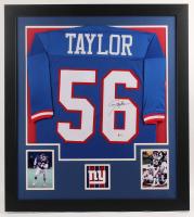 Lawrence Taylor Signed 31x35 Custom Framed Jersey (Beckett Hologram) at PristineAuction.com