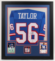 Lawrence Taylor Signed 31x35 Custom Framed Jersey (Beckett COA) at PristineAuction.com