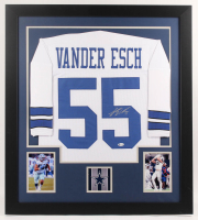 Leighton Vander Esch Signed 31x35 Custom Framed Jersey (Beckett COA) at PristineAuction.com