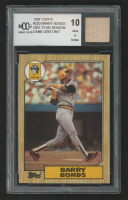 Barry Bonds 1987 Topps #320 RC with Game-Used Bat Piece (BCCG 10) at PristineAuction.com