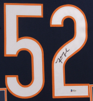 Khalil Mack Signed 31x35 Custom Framed Jersey (Beckett COA) at PristineAuction.com