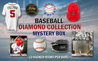 Schwartz Sports Baseball Diamond Collection Mystery Box – Series 5 (3 Autographed Baseball Collectibles In Every Box) at PristineAuction.com