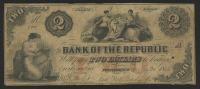 1855 $2 Two Dollars U.S. National Currency Bank Note (The National Bank of the Republic of Rhode Island) at PristineAuction.com