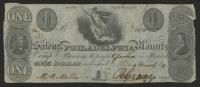 1829 $1 One Dollar Salem & Philadelphia Manufacturing Co. Bank Note at PristineAuction.com