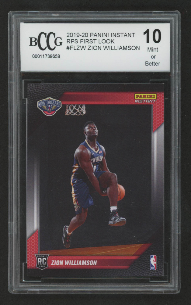 ZION WILLIAMSON 2019 Panini #FL-ZW FIRST EVER PRINTED NEW ORLEANS ROOKIE MINT