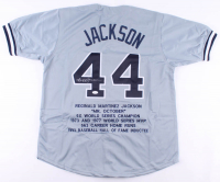 Reggie Jackson Signed Career Highlight Stat Jersey (JSA COA) at PristineAuction.com
