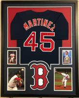 Pedro Martinez Signed 34x42 Custom Framed Jersey (JSA COA) at PristineAuction.com