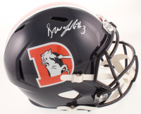 Drew Lock Signed Broncos Full-Size Speed Helmet (Beckett COA) at PristineAuction.com