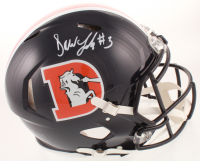 Drew Lock Signed Broncos Full-Size Authentic On-Field Speed Helmet (Beckett COA) at PristineAuction.com