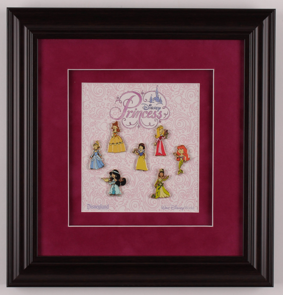 Disney Princesses 13x15 Custom Framed Pin Display at PristineAuction.com
