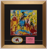 "LeRoy Neiman ""Churchill Downs"" 16x17 Custom Framed Print Display with Kentucky Derby Patch & Horse Stable Pass at PristineAuction.com"