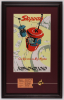 "Disneyland Tomorrowland ""Skyway"" 17.5x27.5 Custom Framed Poster Print Display with Vintage Ticket and Pin at PristineAuction.com"