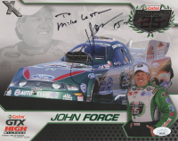 "John Force Signed 8x10 Print inscribed ""15x"" (JSA COA) at PristineAuction.com"