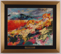 "LeRoy Neiman ""Leopard Family"" 17.5x20 Custom Framed Print Display at PristineAuction.com"